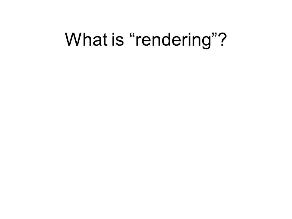 What is rendering