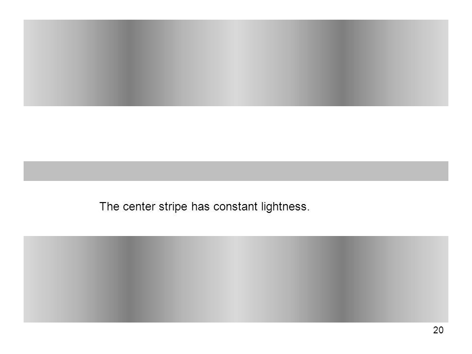 20 The center stripe has constant lightness.