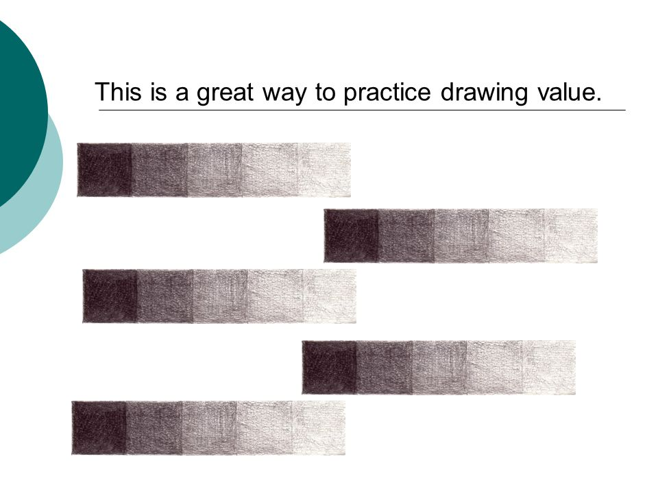 This is a great way to practice drawing value.