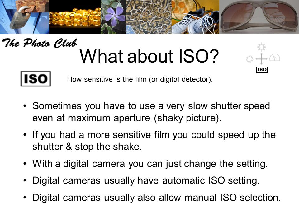 What about ISO? How sensitive is the film (or digital detector). Sometimes you have to use a very slow shutter speed even at maximum aperture (shaky p