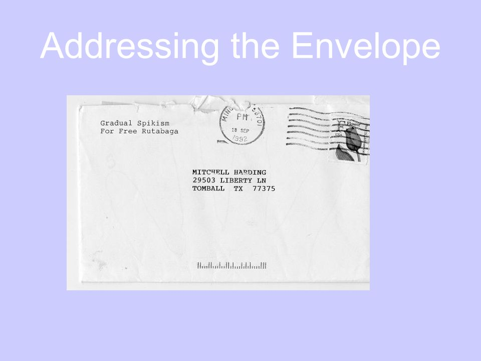 Addressing the Envelope