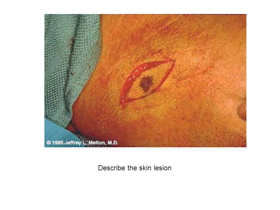 Describe the skin lesion