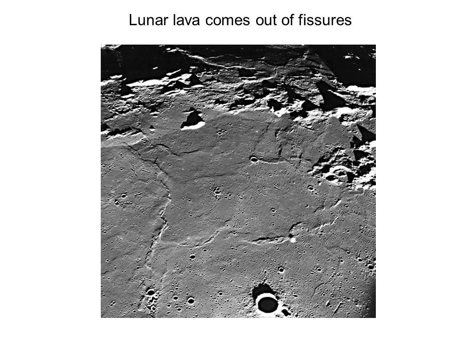 Lunar lava comes out of fissures