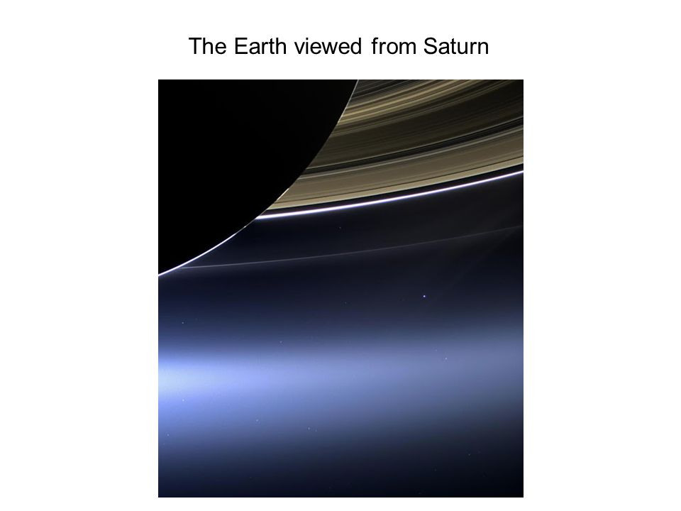 The Earth viewed from Saturn
