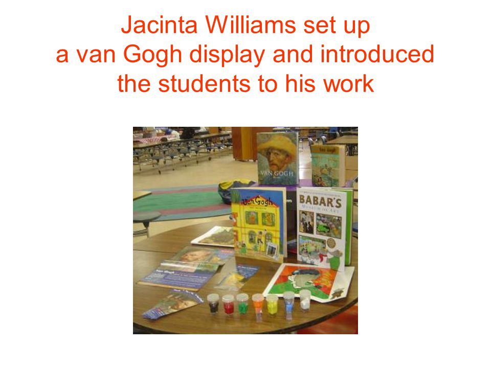 Procedures First: The child chose a paintings from the resource books.