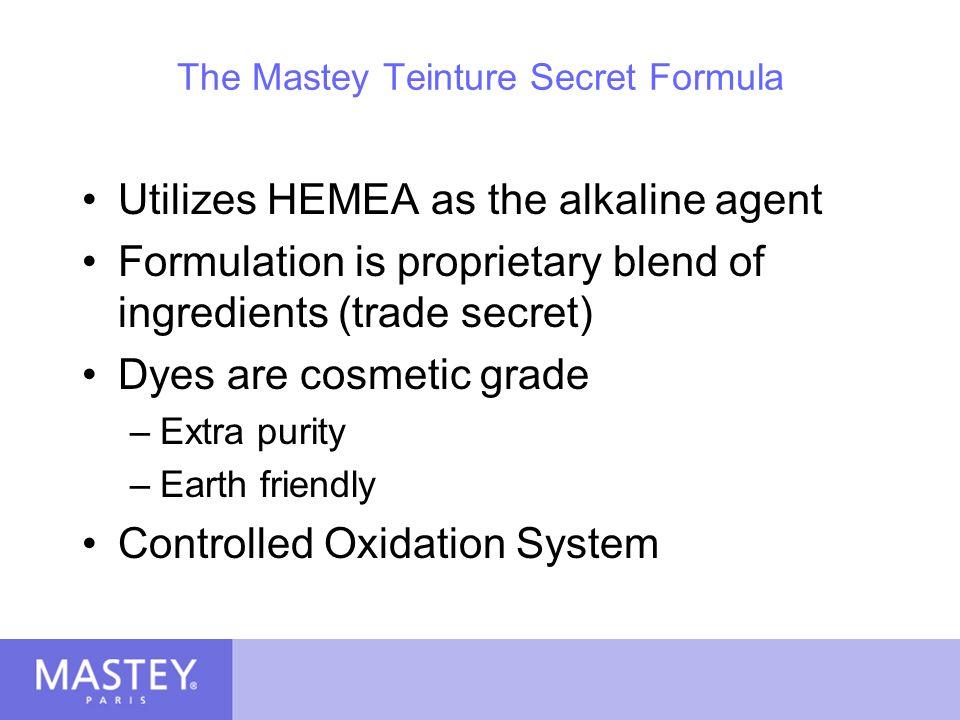 Teinture Availability Bottle : 120 ml (4 fl oz) Mixture : 1 to 1 (1 part color & 1 part Mastey Le Developer crème peroxide) Use with Mastey Le Developer – 10, 20, 30, 40, 50, and 60 volumes.