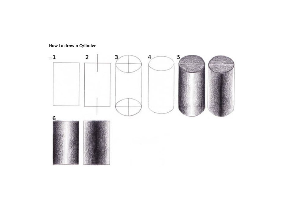 How to draw a Cylinder The graphic shows it all.
