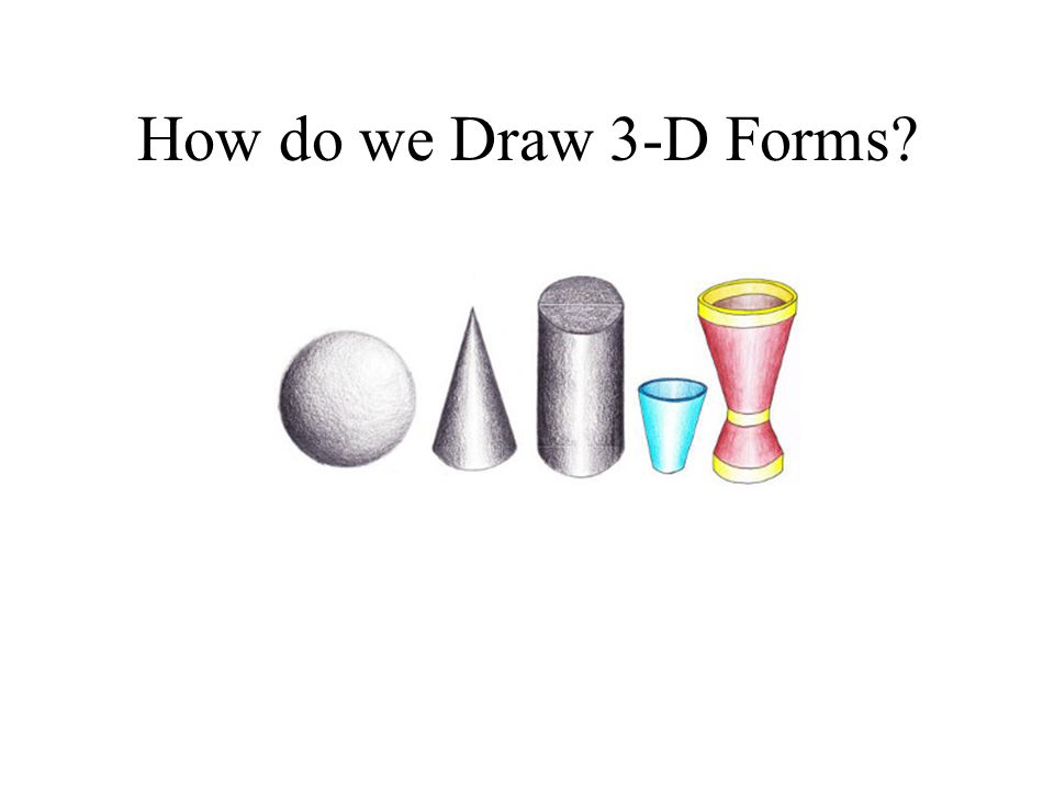 How do we Draw 3-D Forms