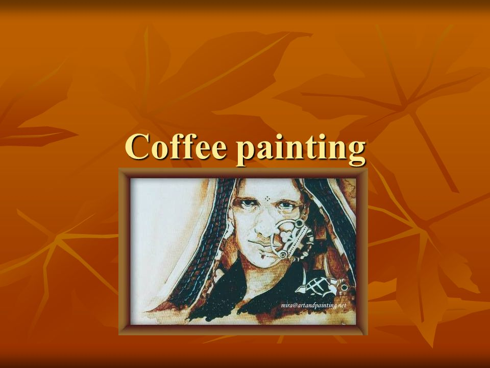 How to make coffee paint Use instant coffee and combine with water and boil down until of thick consistency.
