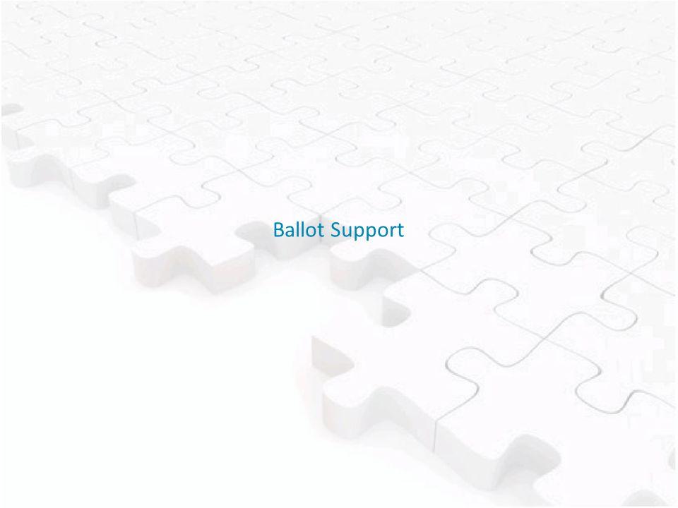 Ballot Support