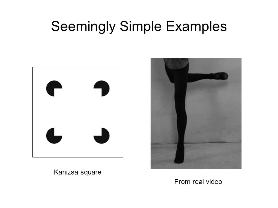 Seemingly Simple Examples Kanizsa square From real video