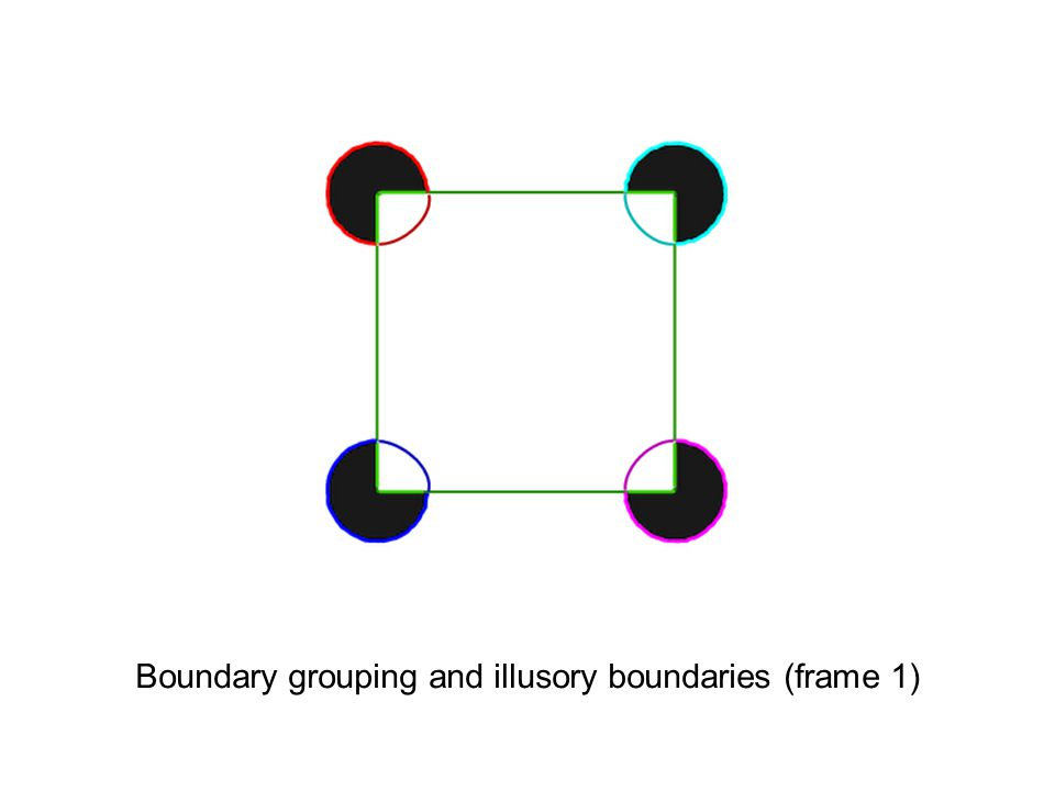 Boundary grouping and illusory boundaries (frame 1)