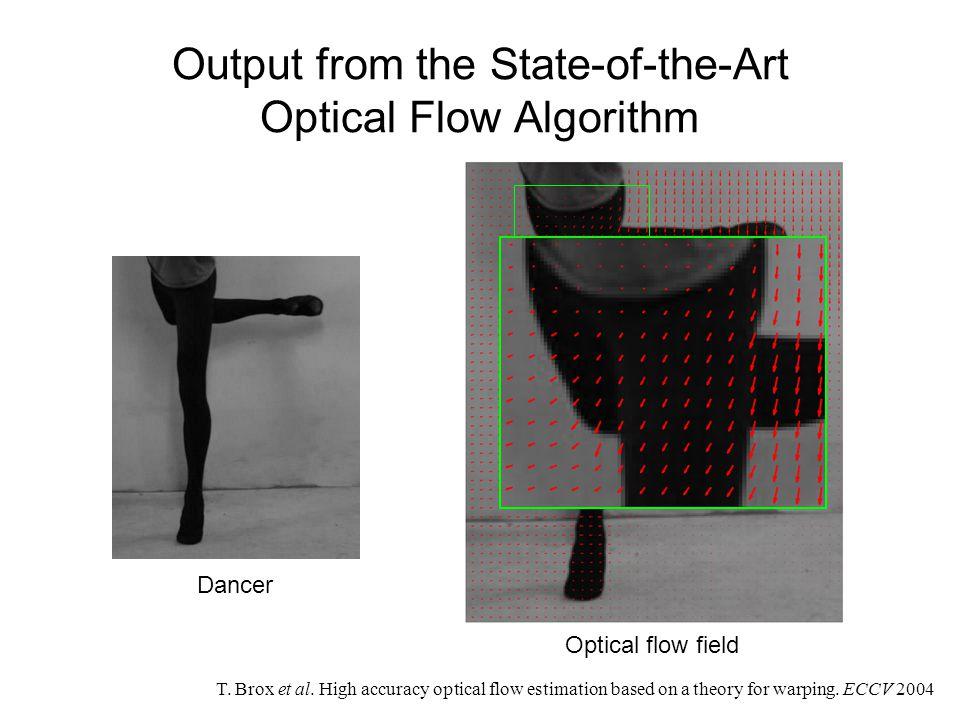 Optical flow from Lucas-Kanade algorithm.