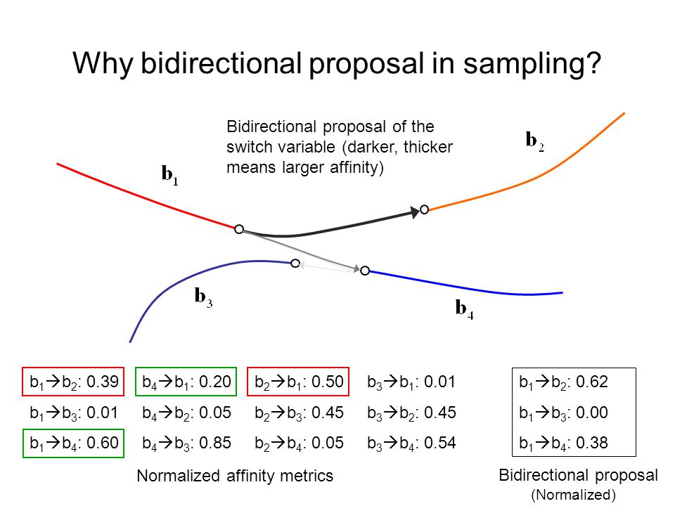 Why bidirectional proposal in sampling.