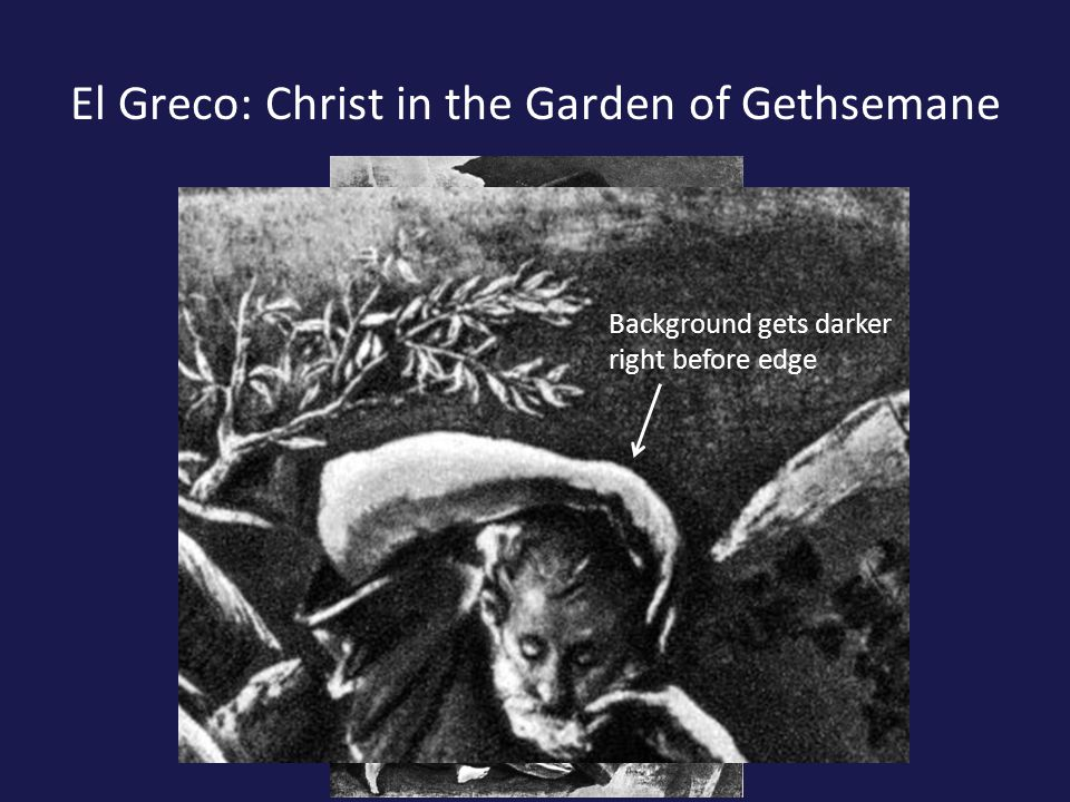 El Greco: Christ in the Garden of Gethsemane Background gets darker right before edge