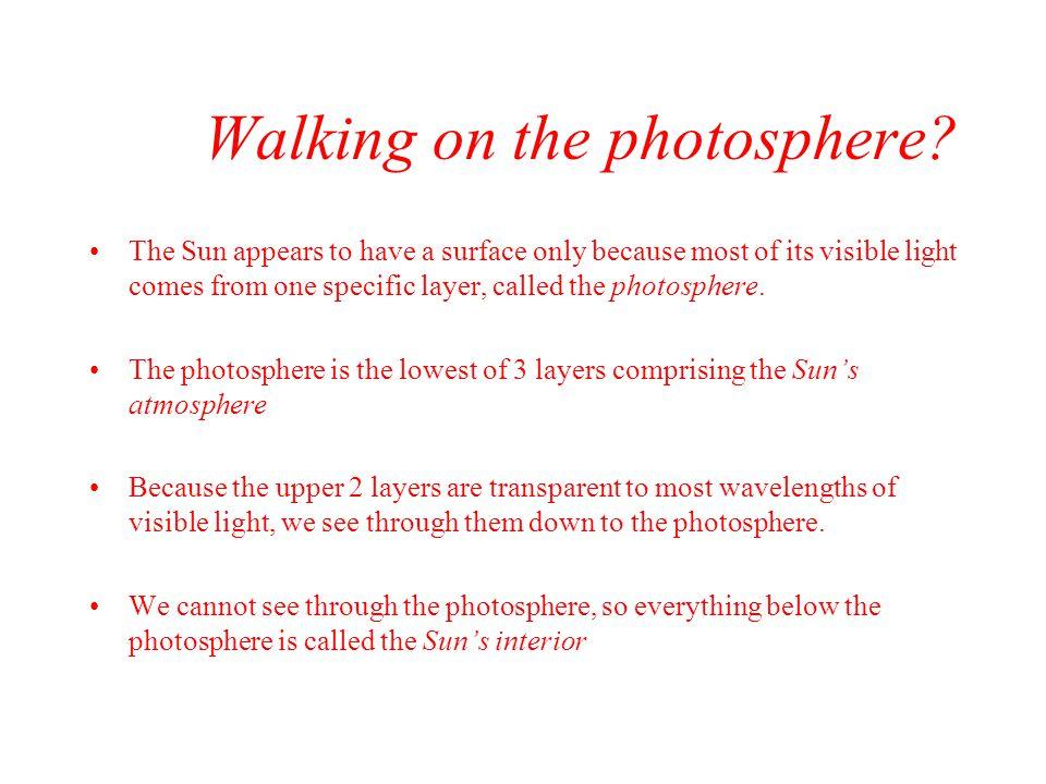 Solar atmosphere –Photosphere –Chromosphere –Corona