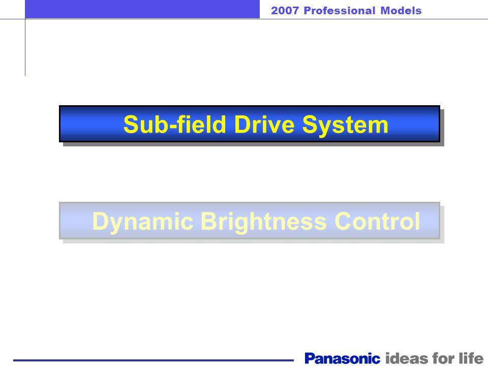 2007 Professional Models Sub-field Drive System Dynamic Brightness Control
