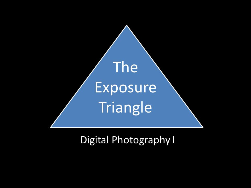 The Exposure Triangle Digital Photography I