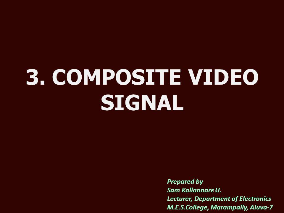 3. COMPOSITE VIDEO SIGNAL Prepared by Sam Kollannore U.
