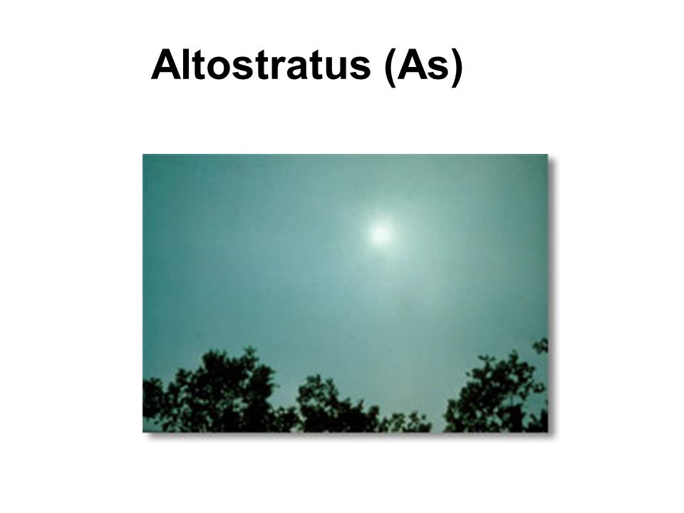 Altostratus (As)