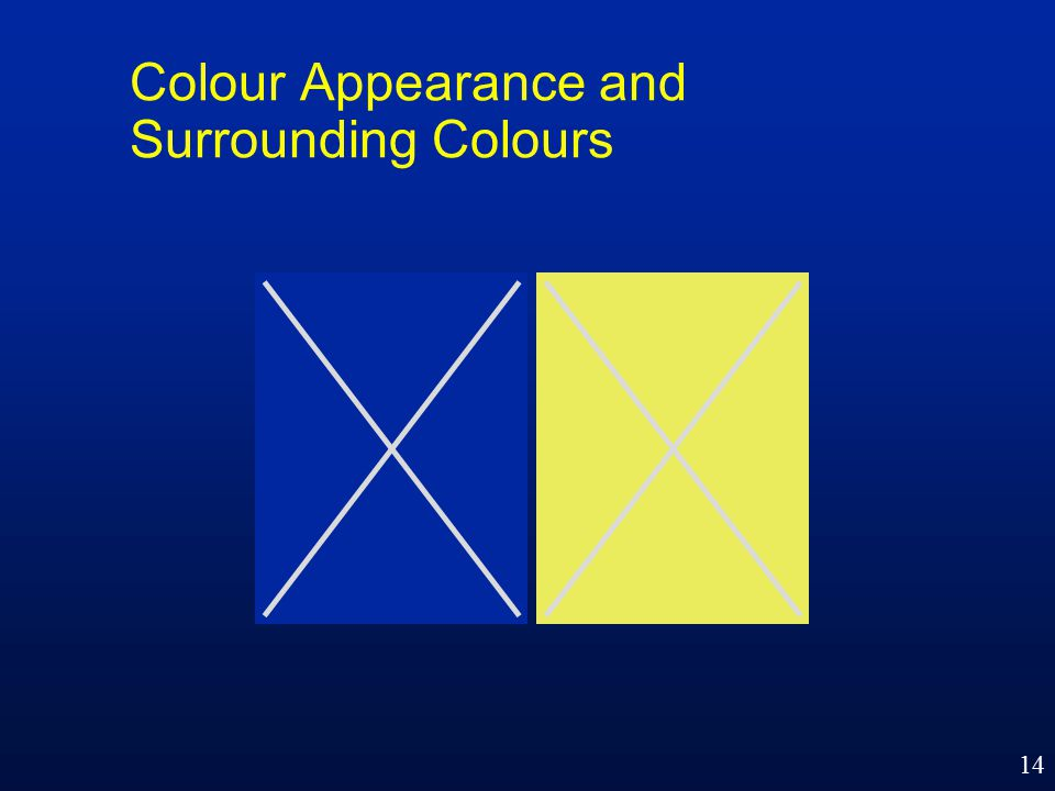 14 Colour Appearance and Surrounding Colours