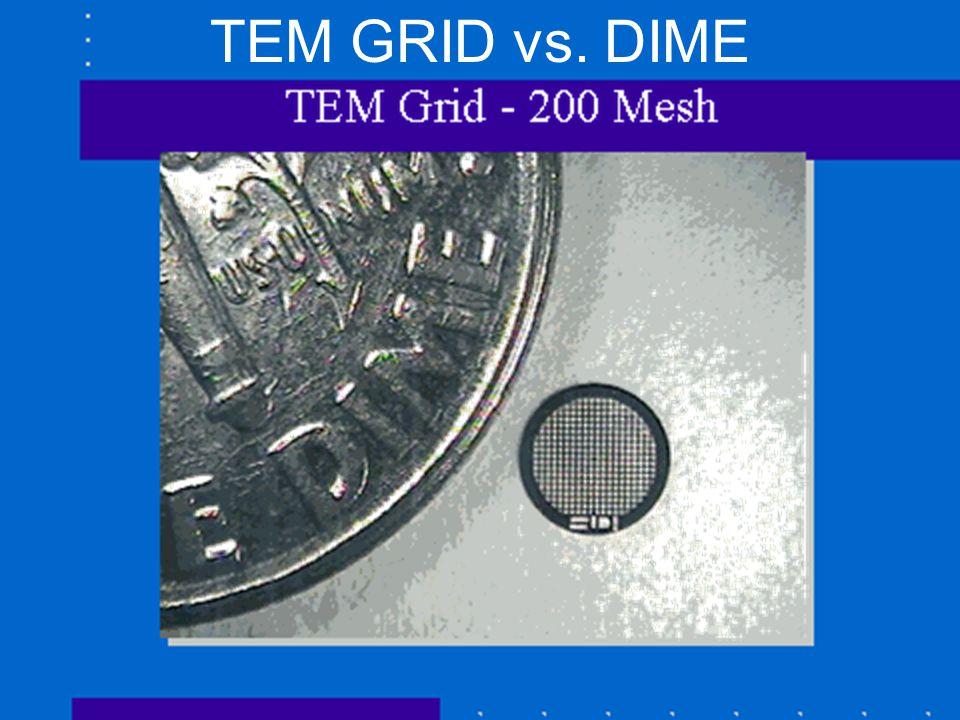 OU NanoLab/NSF NUE/Bumm & Johnson TEM GRID vs. DIME