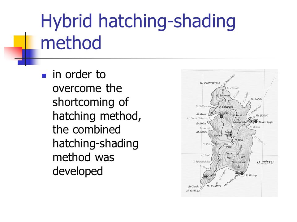 Hybrid hatching-shading method in order to overcome the shortcoming of hatching method, the combined hatching-shading method was developed
