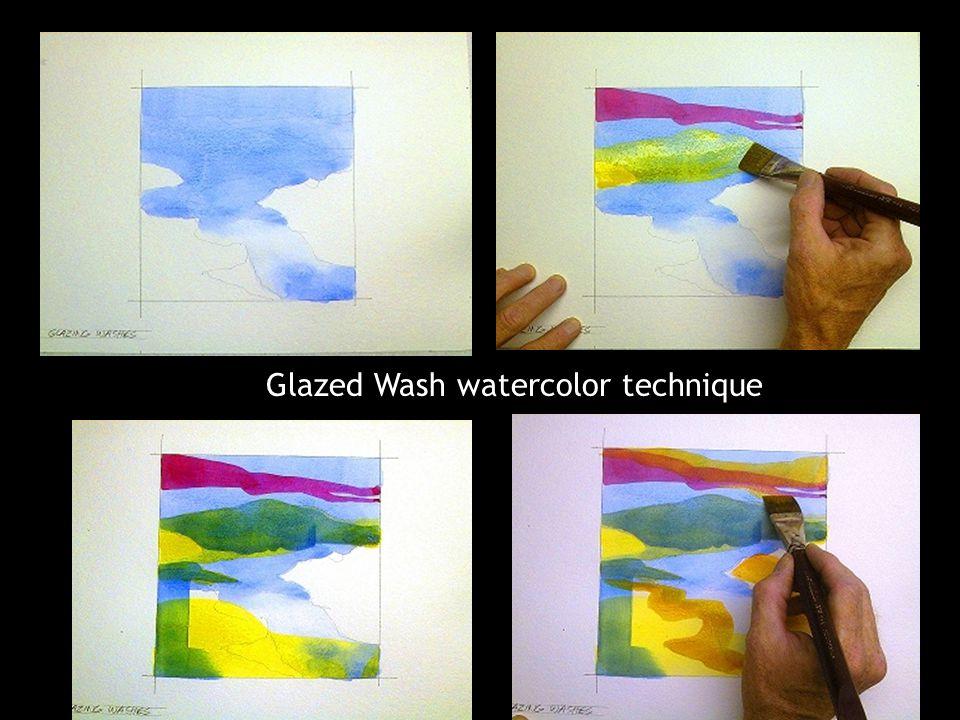Glazed Wash watercolor technique