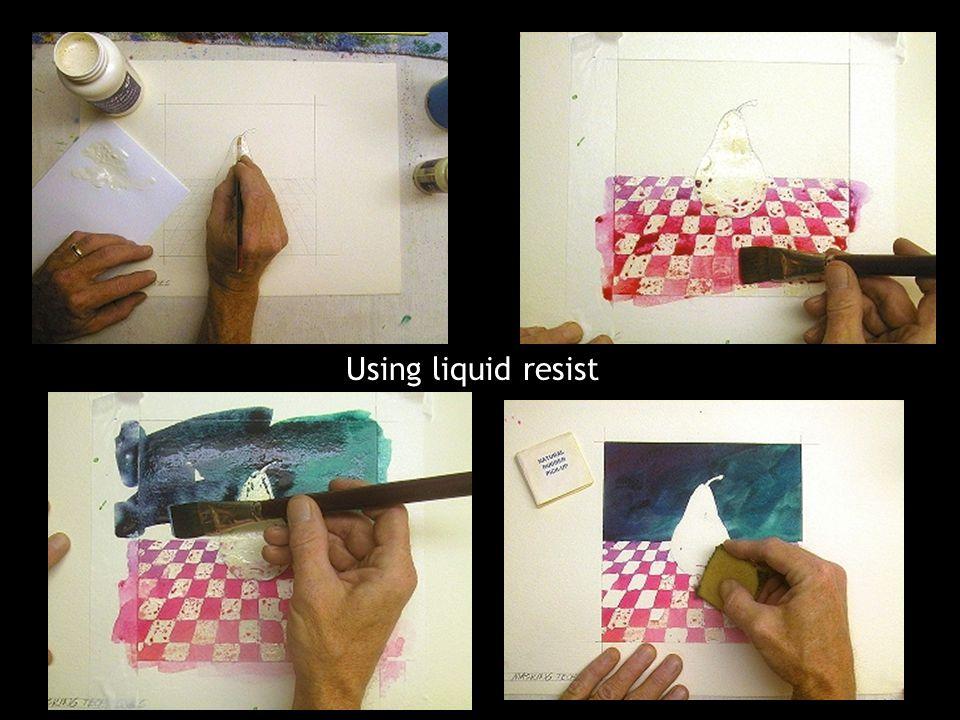 Using liquid resist