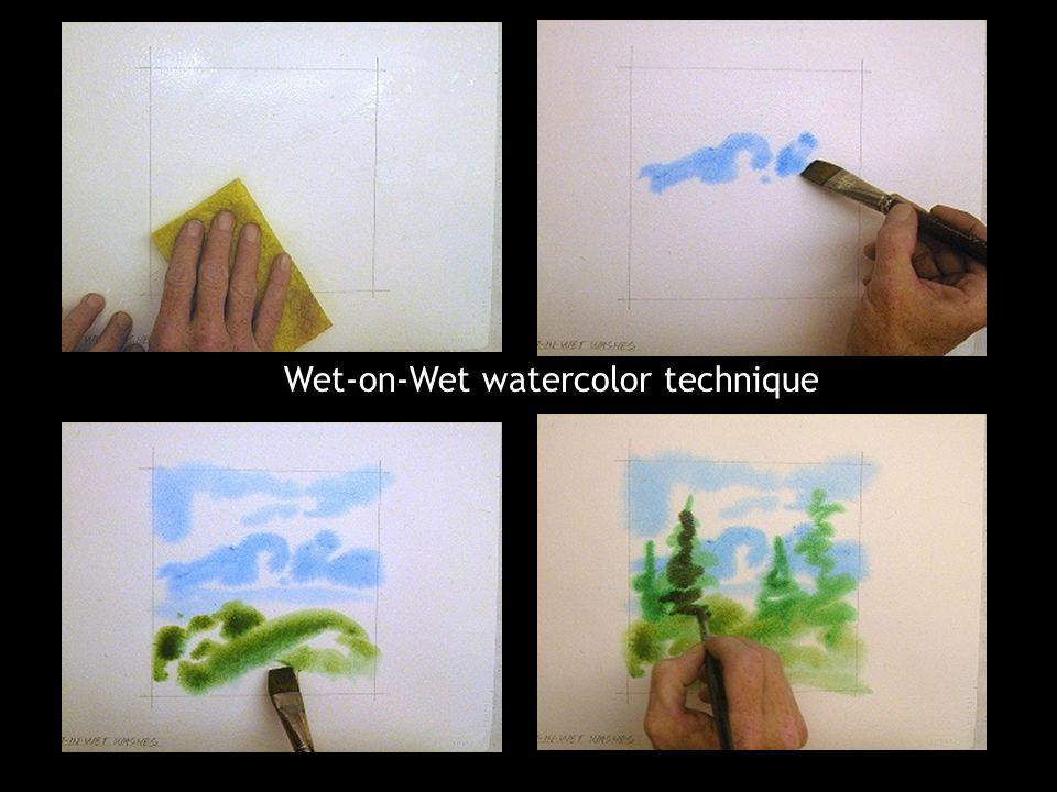 Wet-on-Wet watercolor technique