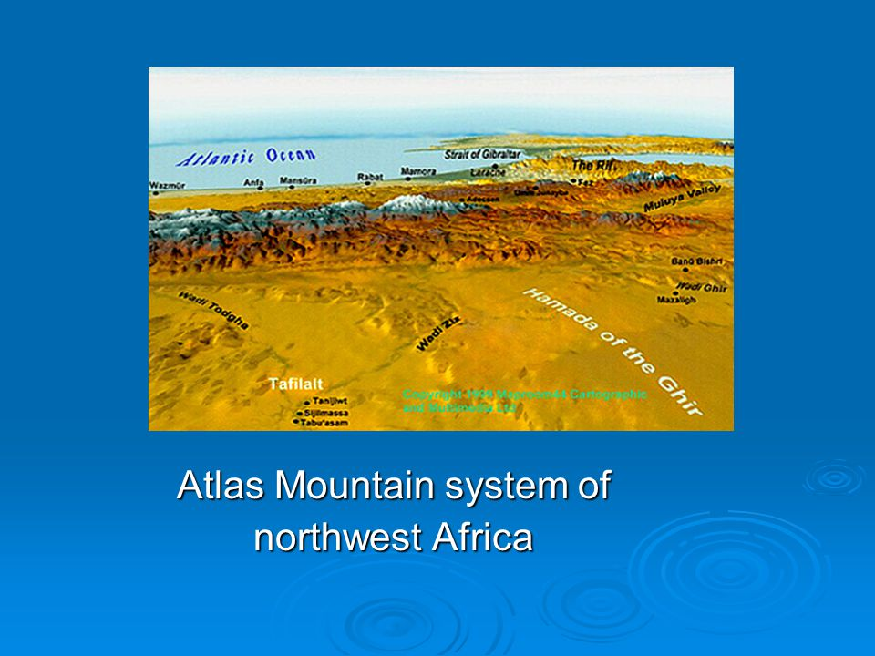Atlas Mountain system of northwest Africa