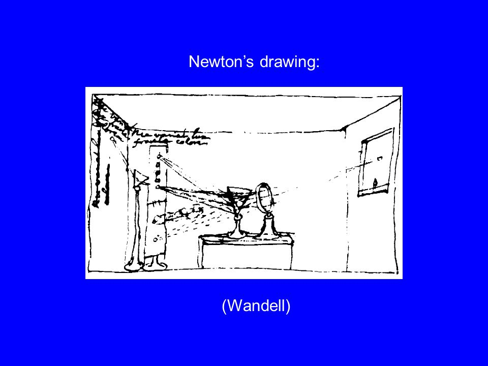 (Wandell) Newton's drawing: