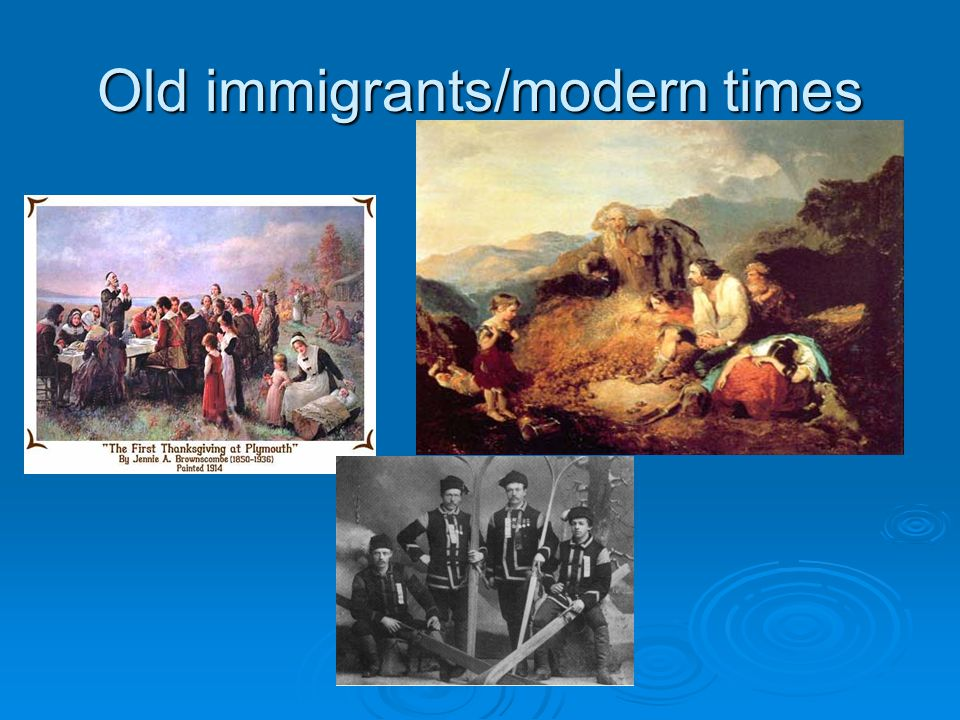 OLD Immigration  Old Immigrants: (1840-1890) Northern/Western Europe Germany, Ireland, England, Sweden, Norway, Holland
