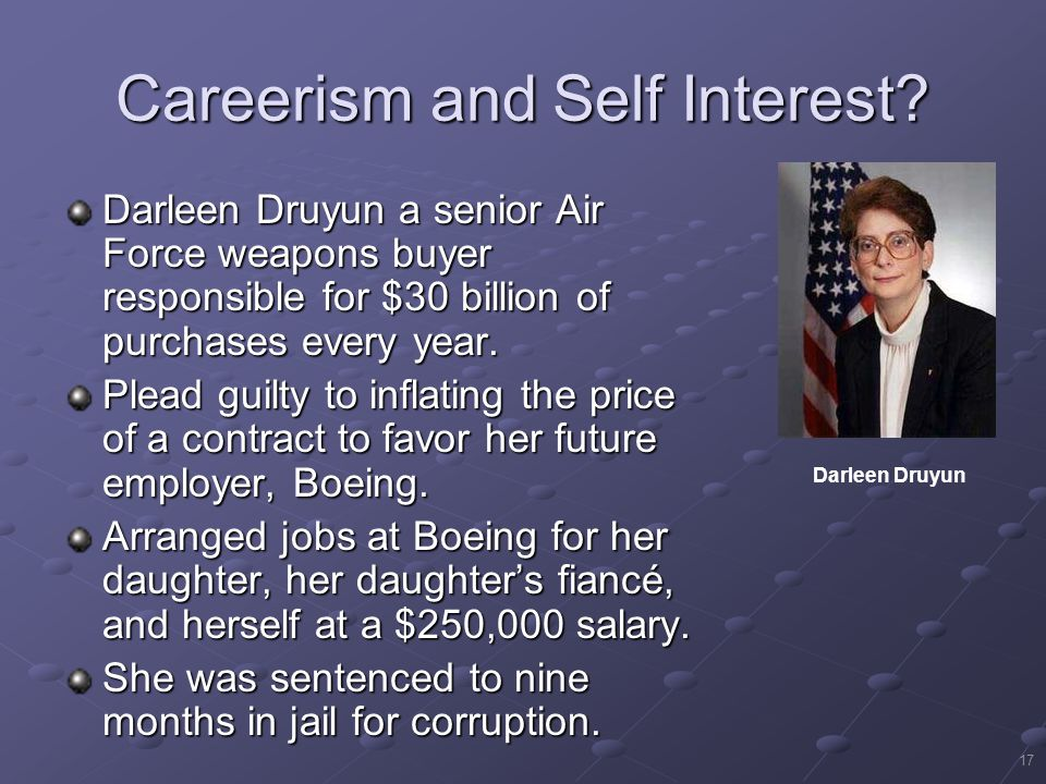 17 Careerism and Self Interest.