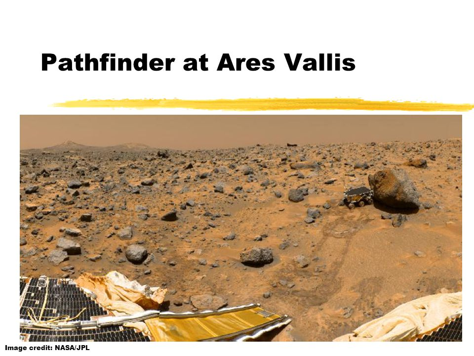 Image credit: NASA/JPL Pathfinder at Ares Vallis