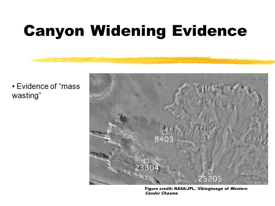 Evidence of mass wasting Figure credit: NASA/JPL.