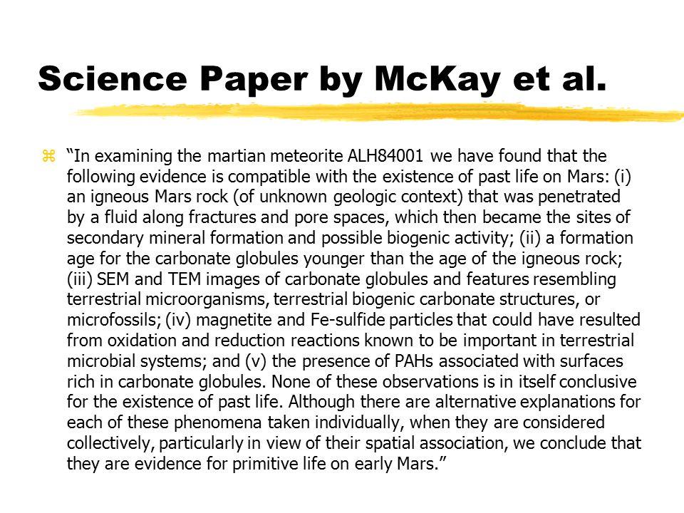 Science Paper by McKay et al.