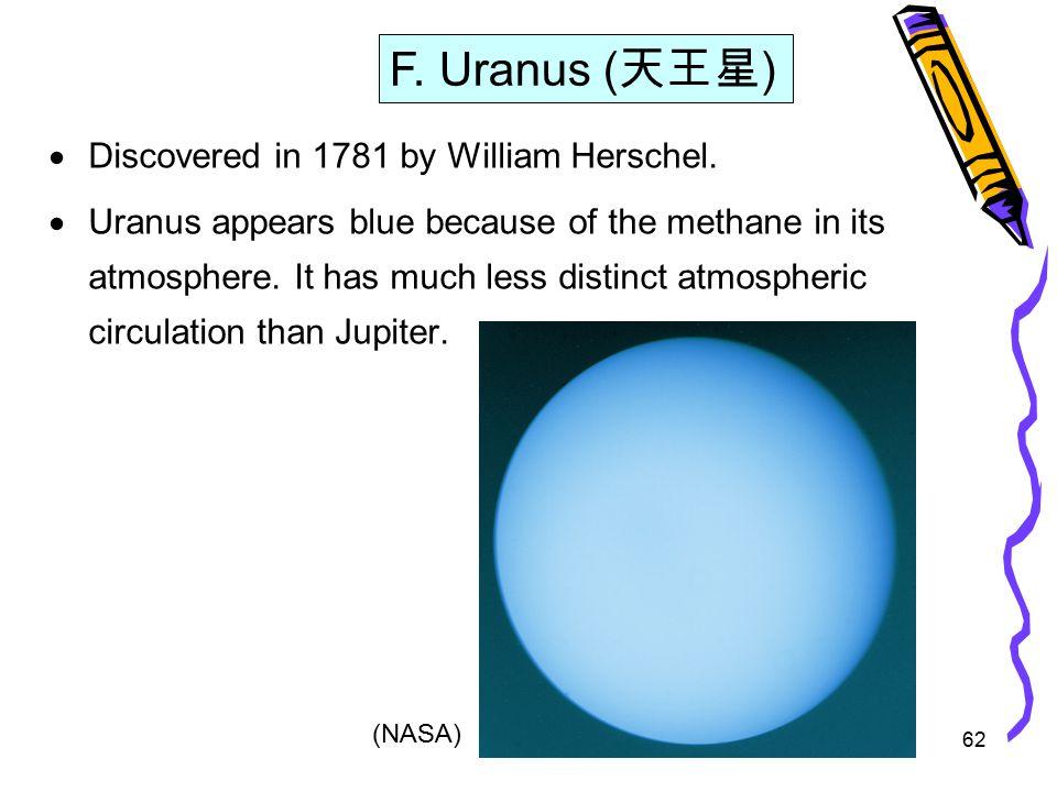 62  Discovered in 1781 by William Herschel.