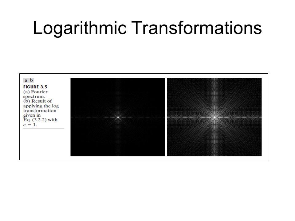 Logarithmic Transformations