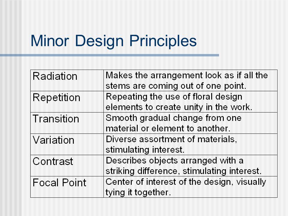Minor Design Principles