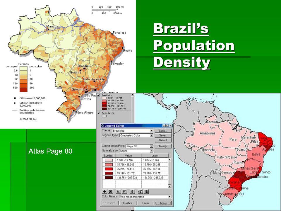 Brazil's Population Density Atlas Page 80