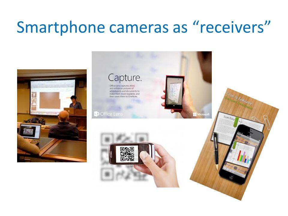 Smartphone cameras as receivers