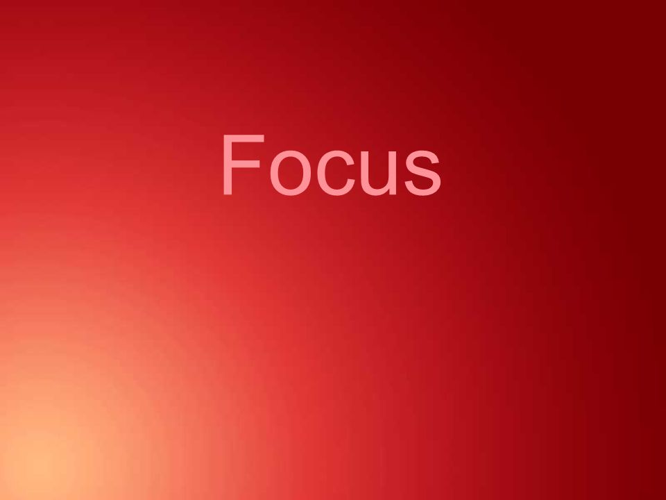 About focus Design principles - Focus Focus is used to centre attention.