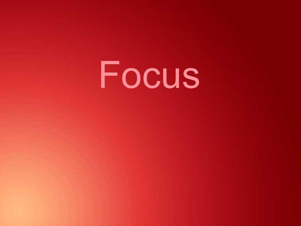 Design principles - Focus Identifying focal points Primary focus Secondary focus