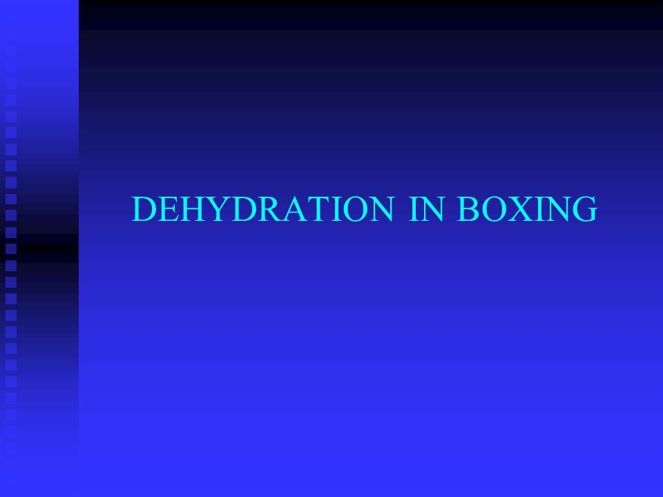 What is Dehydration? n Represents the excessive loss of body water