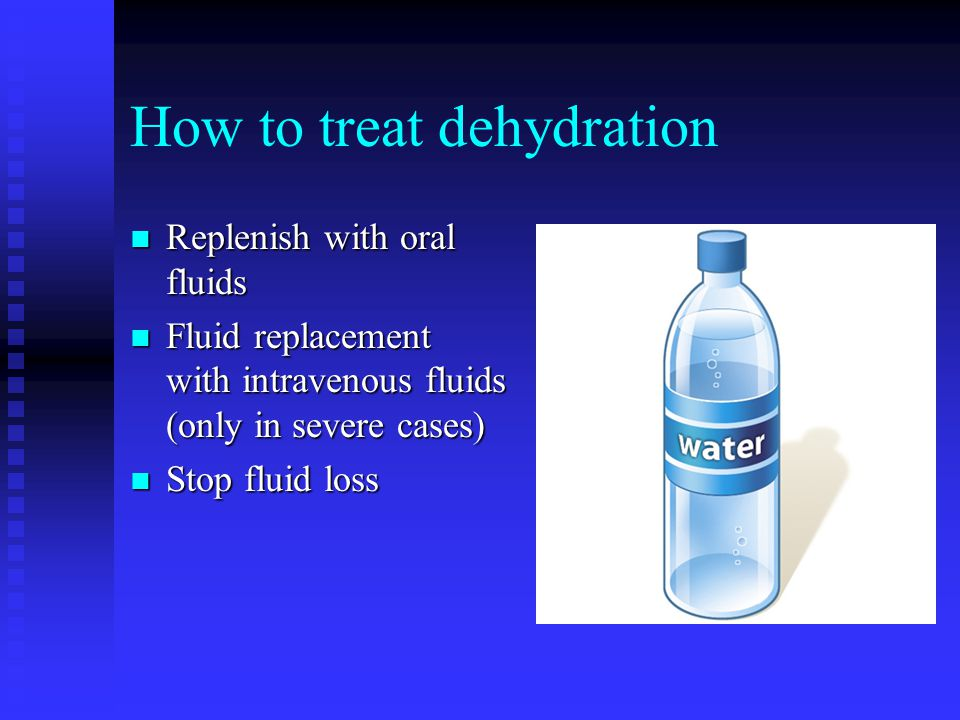 How to Prevent Dehydration in Boxing n Avoid rapid weight loss n Drink plenty of water n Avoid u Saunas u Sweat suits u Diuretics (water pills) u Laxatives