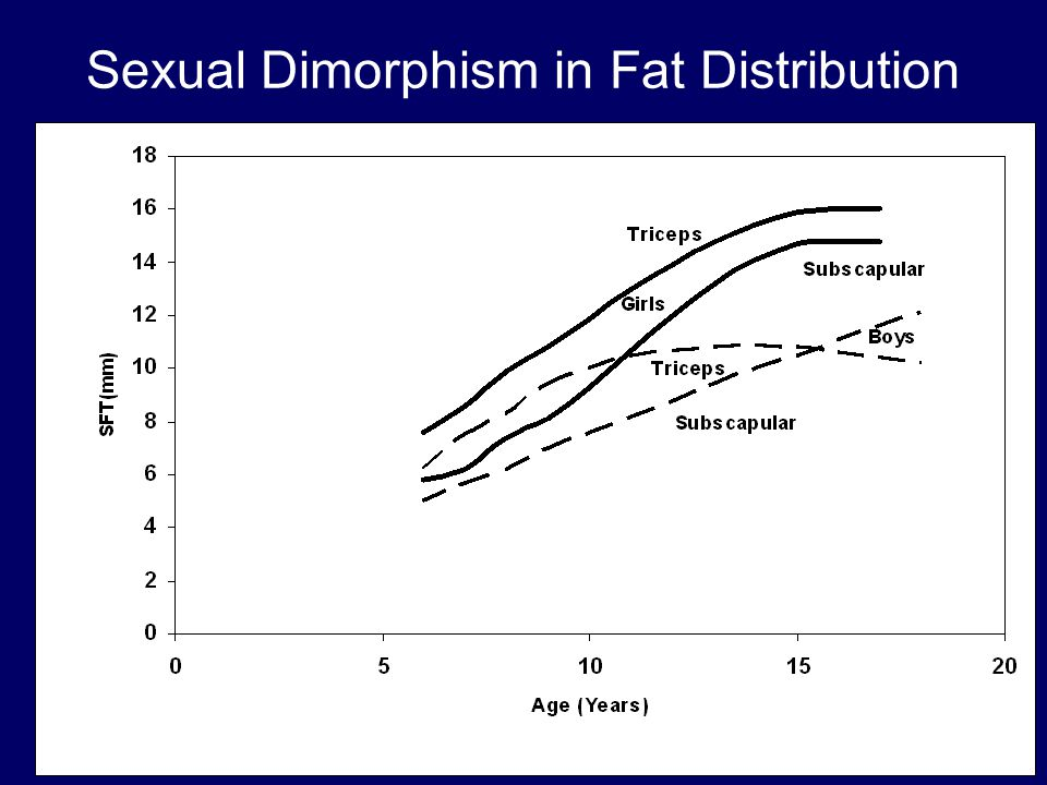 Sexual Dimorphism in Fat Distribution