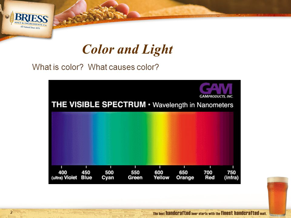 3 Visible spectrum of light