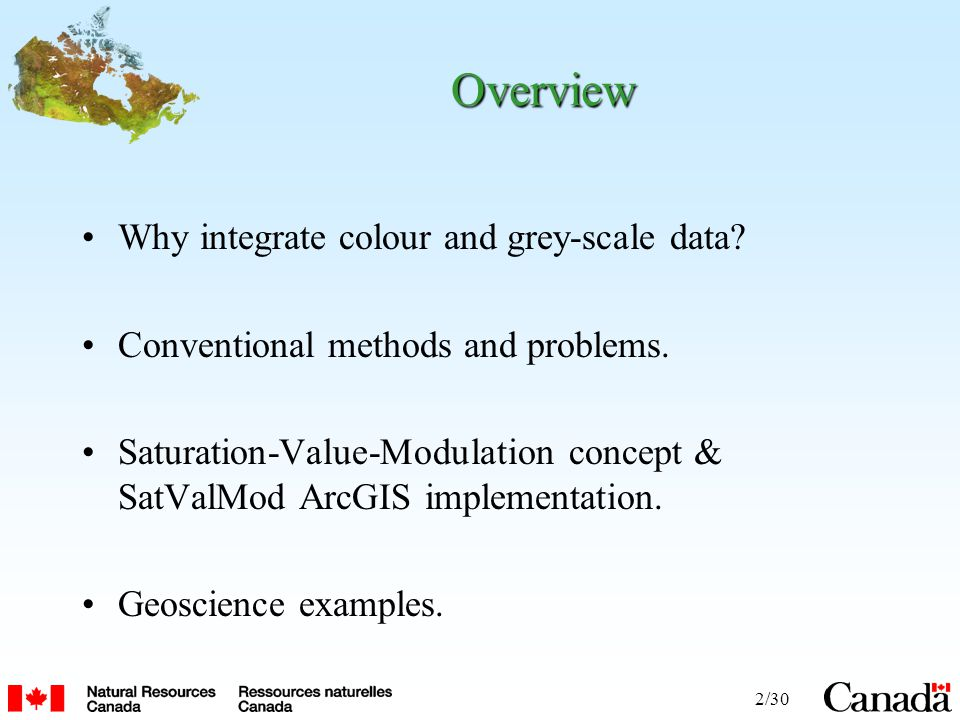 2/30 Overview Why integrate colour and grey-scale data.