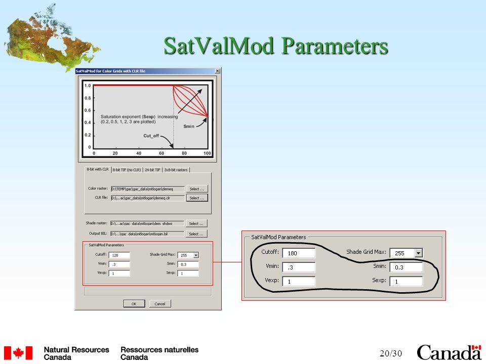 20/30 SatValMod Parameters